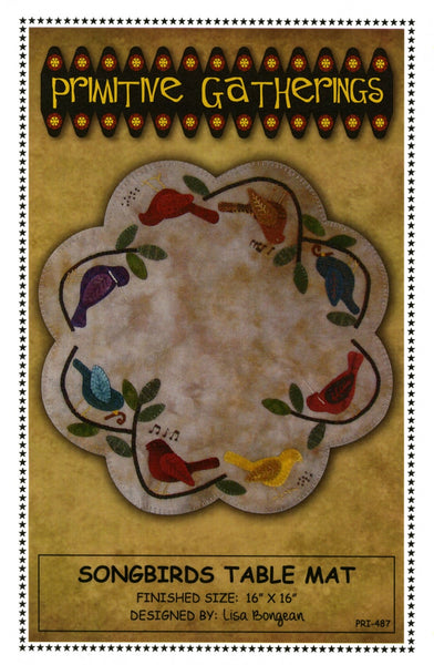SONGBIRDS TABLE MAT - wool table mat pattern
