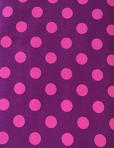 ALL STARS (POM POMS-118-FOXGLOVE) - fabric price per 1/4 meter