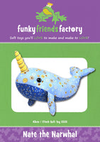 NATE THE NARWHAL - soft toy pattern