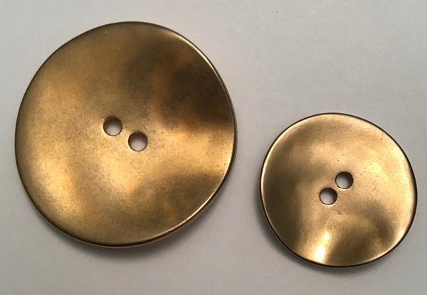 METAL BUTTON (DULL GOLD) - Dill buttons