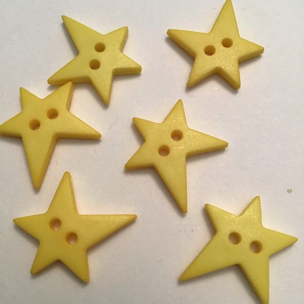 COUNTRY STAR YELLOW (15MM) - Dill buttons