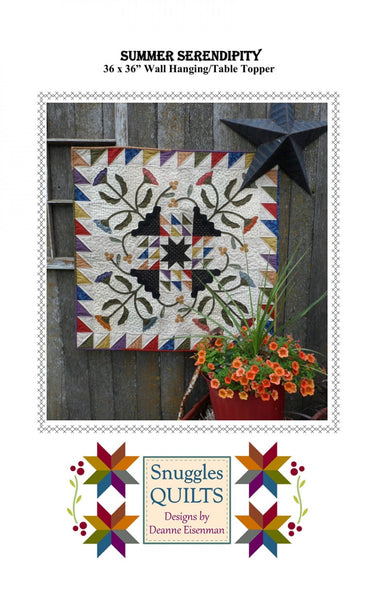 SUMMER SERENDIPITY - wall hanging table topper patterns