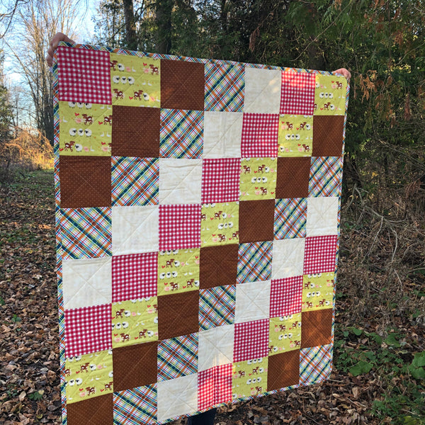 KIDS QUILT - farm animals