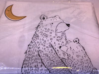 BEAR HUG - fabric panel