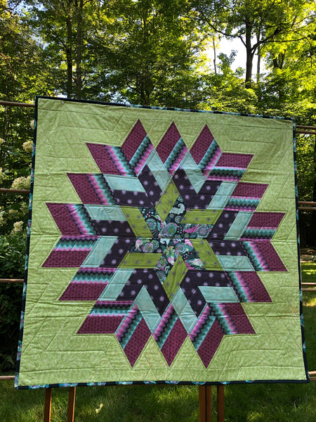 KIDS QUILT OR WALL QUILT - glitter