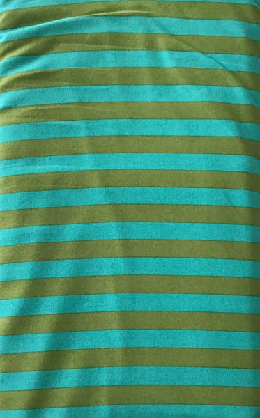 ALL STARS (TENT STRIPE-069-AGAVE) - fabric price per 1/4 meter