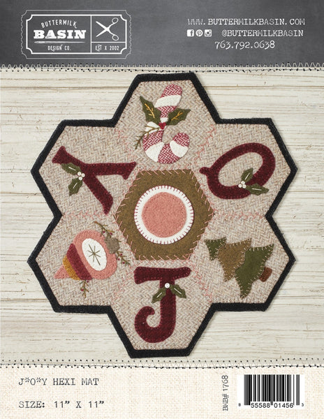 JOY HEXI MAT - wool table mat pattern