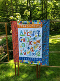 ALPHABET SOUP FLANNEL - kid size quilt panel kit