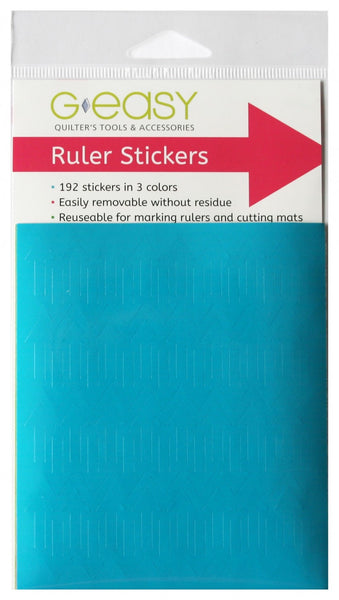 RULER STICKERS - 192 stickers in 3 colours