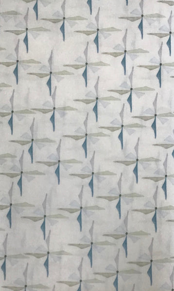 REVERIE (WAITIG FOR THE WIND-PWSR035-CELADON) - fabric price per 1/4 meter
