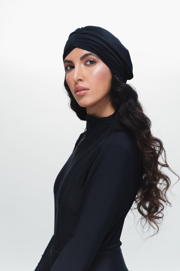 Swim Turban - Navy Blue