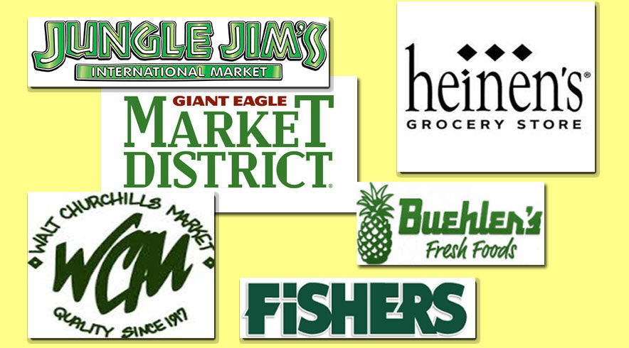 Buehler's, Jungle Jim's, Market District, Heinen's Walt Churchills, Fisher's foods, and many more