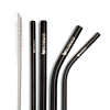 Black Metal Straw Set - Blendaco