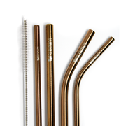 Rose Gold Metal Straw Set - Blendaco