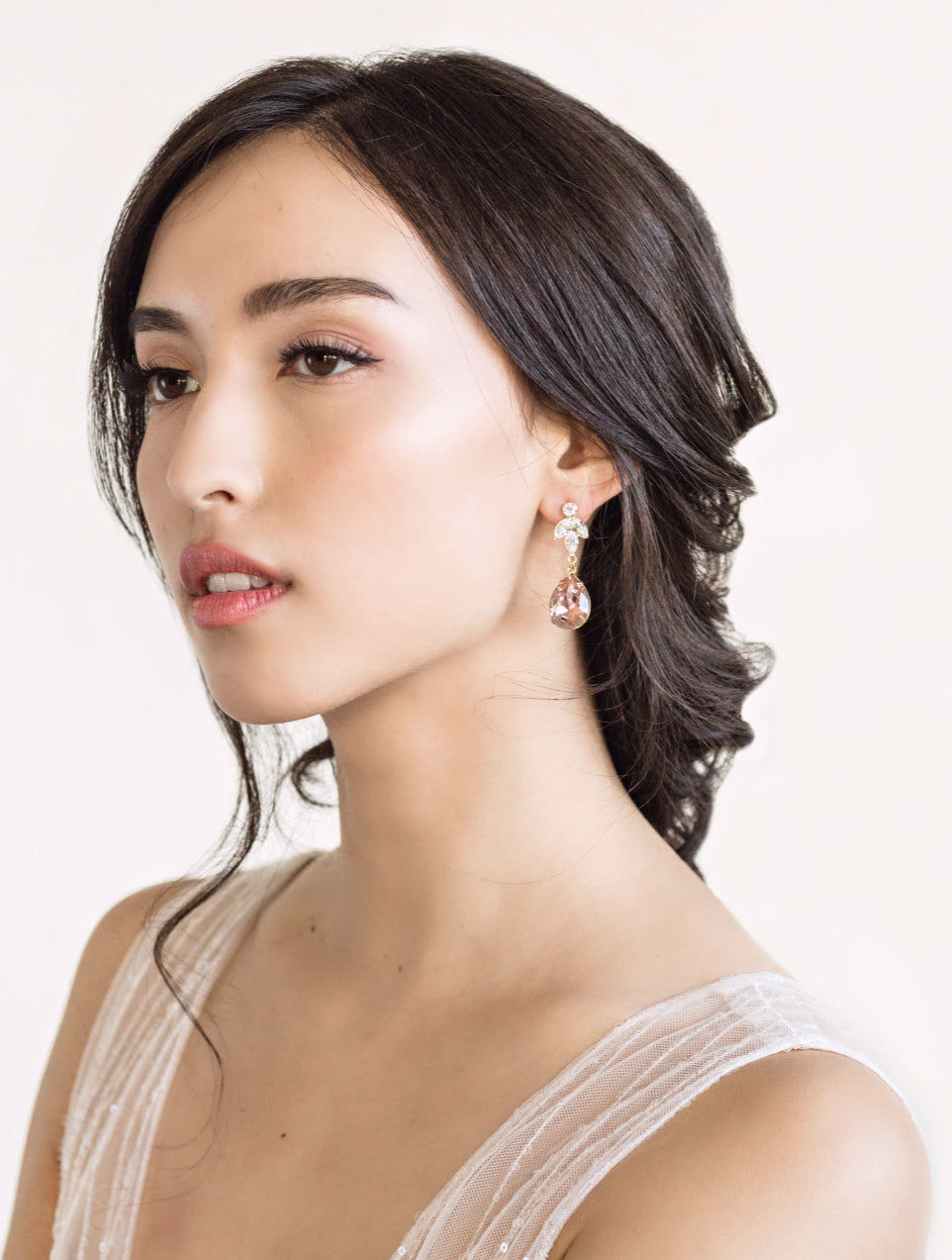 Estella (larger pear stone than the Annelise earrings)