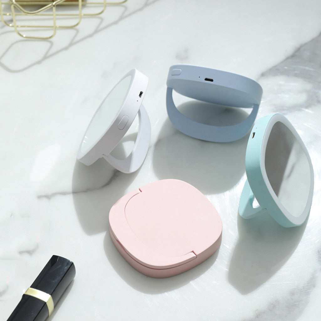 Glow-Up Compact LED Vanity Mirror