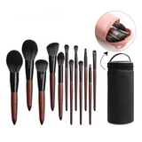 Professional Wooden Makeup Brush Set by Glamchik