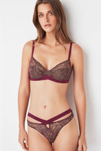 Load image into Gallery viewer, Else - Bohemian Underwire Bra Khaki/Magenta