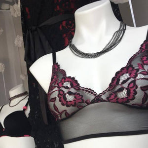 On The Inside Lingerie - Rosa Bra Black