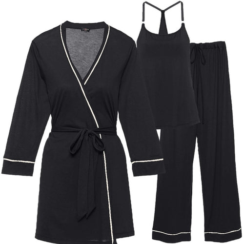 Cosabella - Bella Maternity 3Pc PJ Set Black