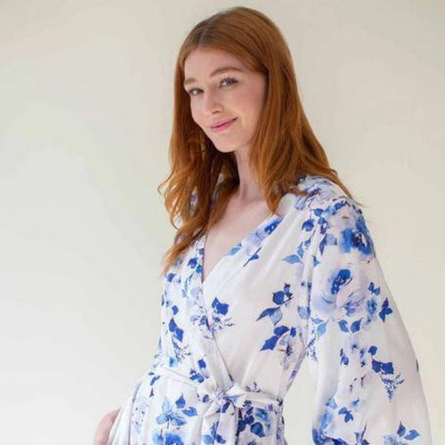 Girl & A Serious Dream - Botanical Love Print in Blue