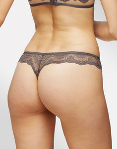 Blush - Loveswept Thong Night Gray - FINAL SALE