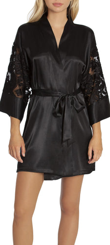 InBloom - Silverado Wrap with Lace Sleeves Black
