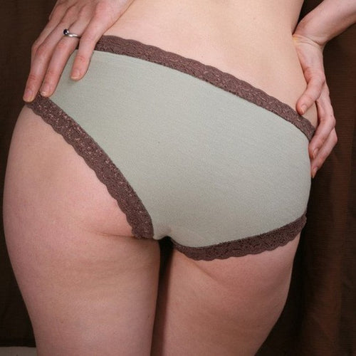 On The Inside Lingerie - Organic Panties Sage
