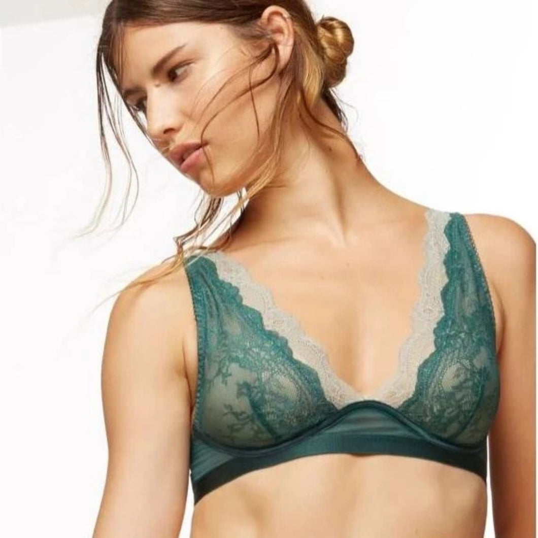 Blush - Coco Bralette Enchanted Green - FINAL SALE