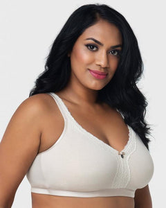Curvy Couture - Cotton Luxe Unlined Wire Free Bra Natural