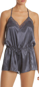 InBloom Intimates - Glistening Romper Charcoal