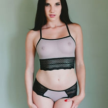 Load image into Gallery viewer, On The Inside Lingerie -  Johnny Jump Up Bra Gray Sheer