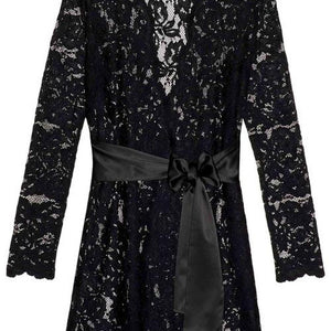 Girl & A Serious Dream -  Lauren Lace Robe Black