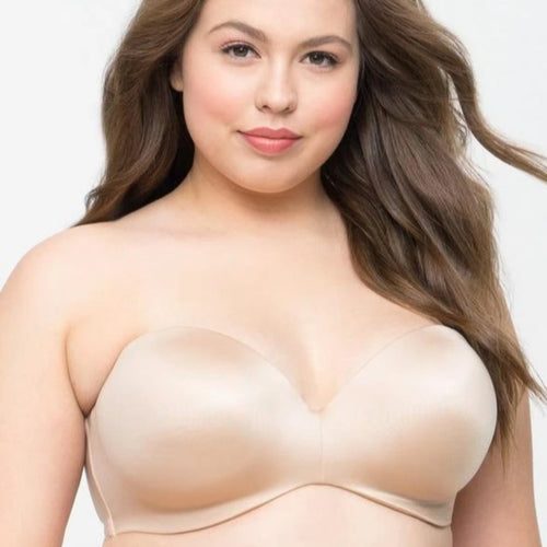 Curvy Couture - Smooth Strapless Bra Nude