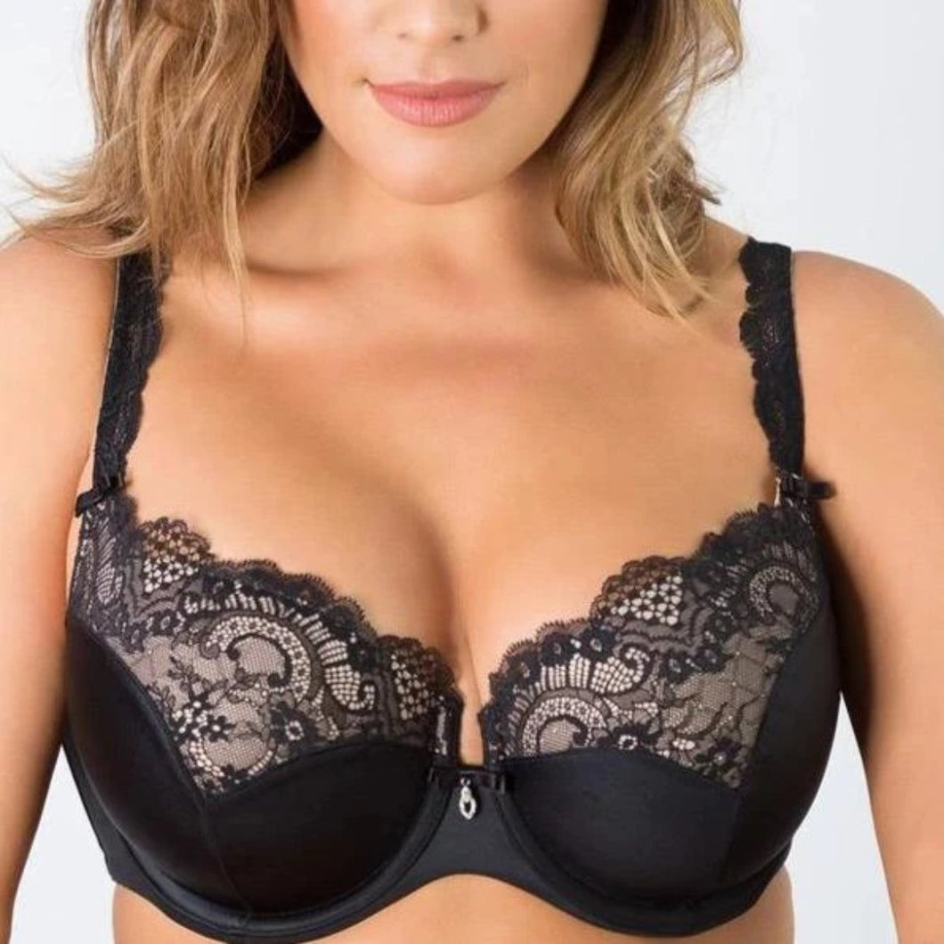 Curvy Couture - Tulip Lace Bra Black