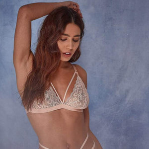 Wolf & Whistle -  Belle Lace Soft Cup Bra Blush