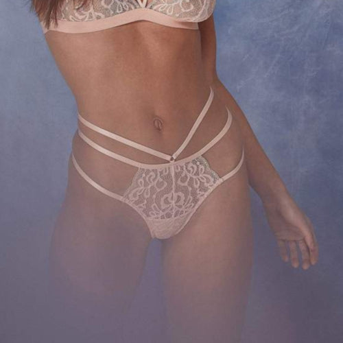 Wolf & Whistle -  Belle Lace Thong Blush