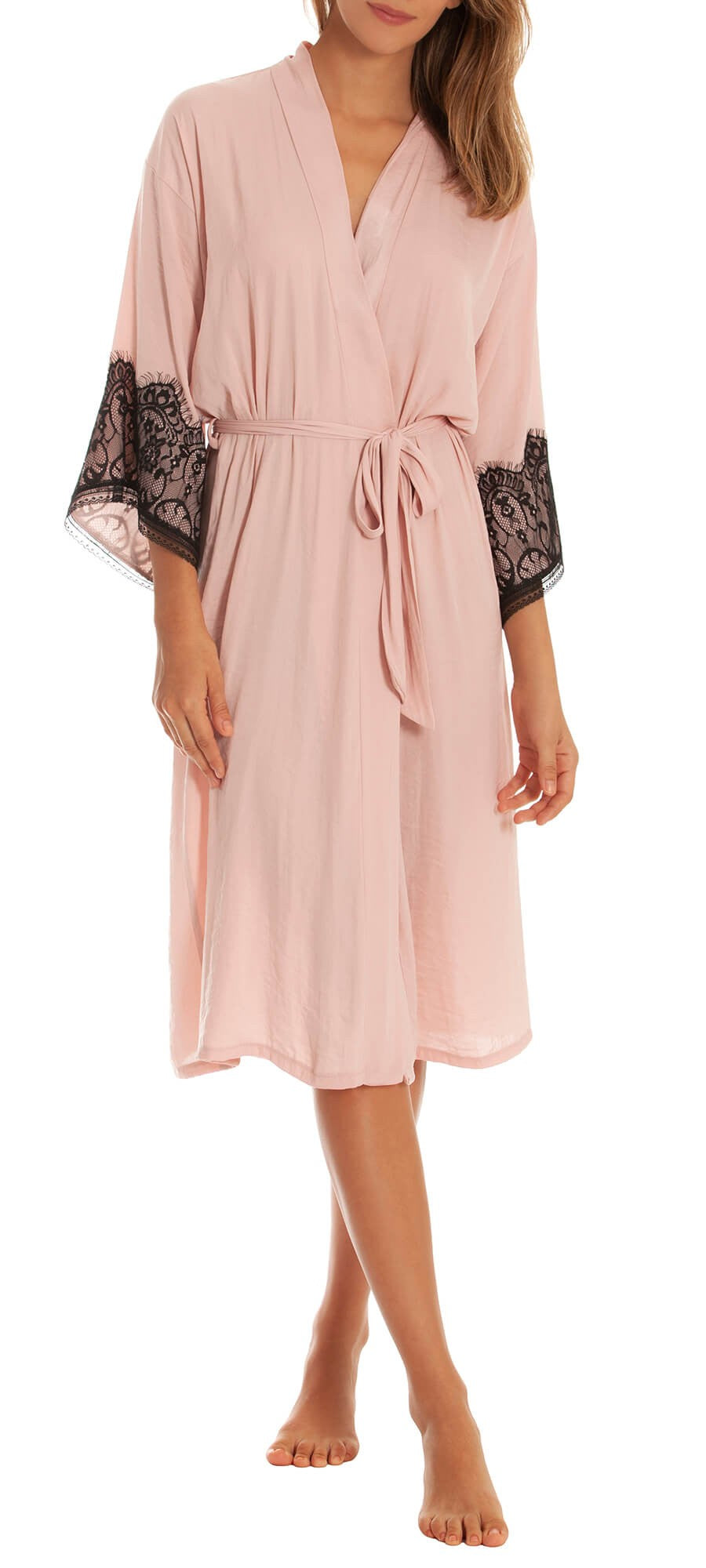 InBloom Intimates - Your Eyes Robe with Lace Blush