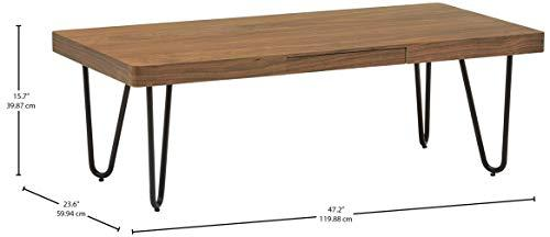 Amazon Brand Rivet Rectangular Coffee Table | ZedHouses - zedhouses