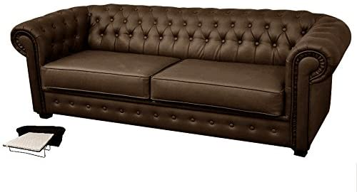 Chesterfield Style Venus Brown Sofa Bed | ZedHouses - zedhouses