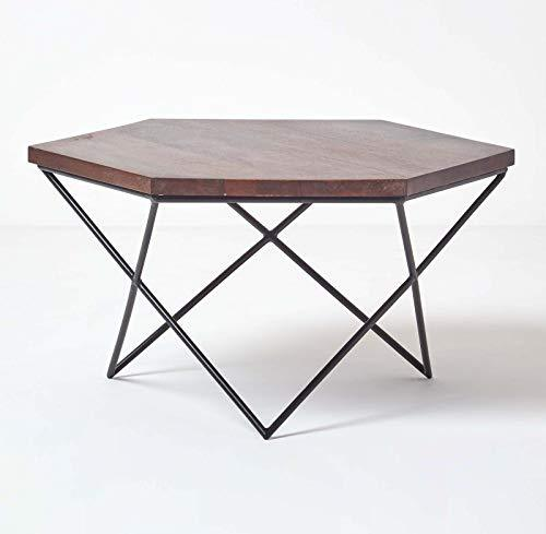 HOMESCAPES Wood Coffee Table - zedhouses