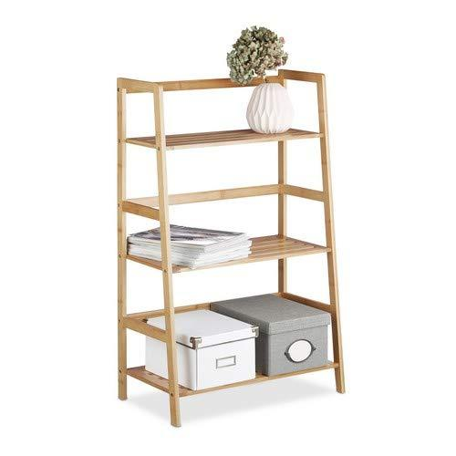 Relaxdays Bamboo Bookcase - zedhouses