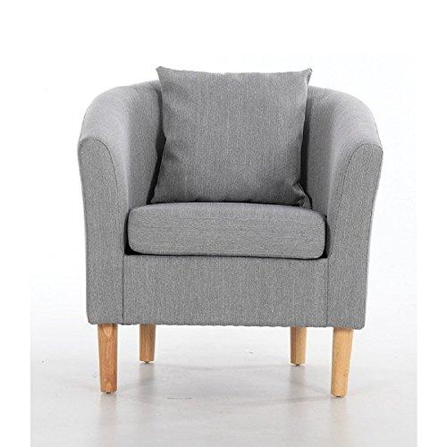 York Fabric Tub Chair Armchair - zedhouses