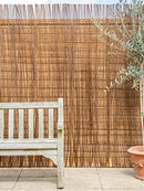 Papillon 4.0m x 2.0m (13ft 1in x 6ft 6in) Willow Natural Garden Fence Screening Roll Privacy Border Wind & Sun Protection