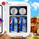 NETTA Mini Fridge 5L - Beer Drinks Portable Small Fridge - For Bedroom, Skincare, Office With Cooling And Warming Function - AC/DC Portable - White & Black