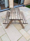 CLASSIC Traditional Pub and Garden Style Bench - Commercial Grade - Heavy Duty - Rustic Brown (4ft)