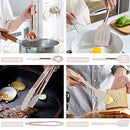 Silicone Cooking Utensil Set, Fungun Kitchen Utensils Set with Stainless Steel Handle 24 Pcs Kitchen Gadgets Cookware Set, Non-stick Heat Resistant Kitchen Tool Set - Khaki