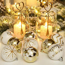 Christmas Baubles Balls Ornaments Set - 30 Pieces (Gold & White)