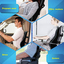 Sotor Lumbar Pillow Cushion, Memory Foam Back Support Cushion Lumbar Support for Office Chair, Car Seat, Recliner, Back Cushion with Extension Strap and Carry Bag Black