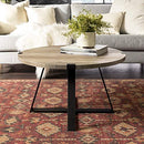 Eden Bridge Designs Industrial Urban Round Coffee Table